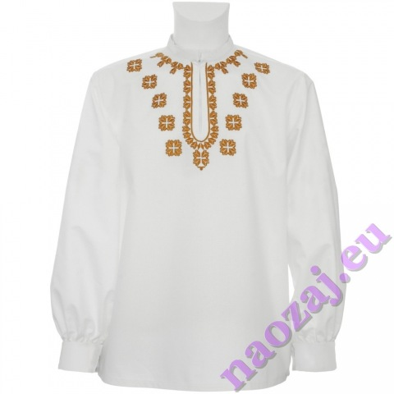 Vyšívaná košeľa s manžetami - voliteľný rozsah výšivky