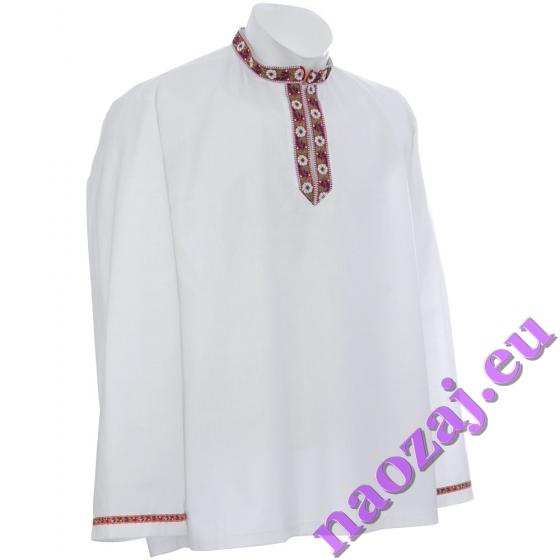 Krojová košeľa ADAM zdobená vyšívanou tkaničkou