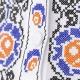 Folklórna košeľa VRATKO vyšívaná - detail krížikovej výšivky na hrudi