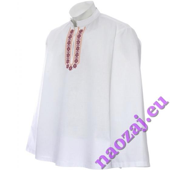 Vyšívaná krojová košeľa KRIŠTOF - vyšívka na hrudi