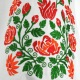 Záhorácke krojové rukávce EMÍLIA - rastlinný motív ruža