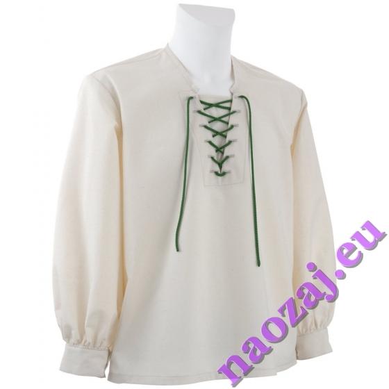 Krojová košeľa SERVÁC - s manžetami - imitácia režného plátna
